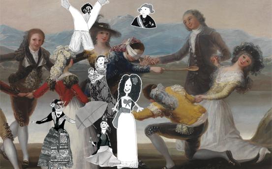 Goya: pintura con hilos