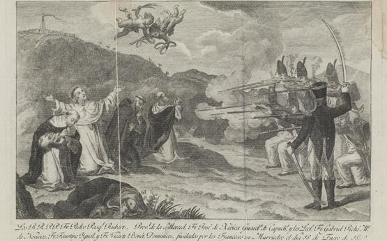 Adquisición: Estampa Los cinco religiosos fusilados en Murviedro durante la Guerra de la Independencia