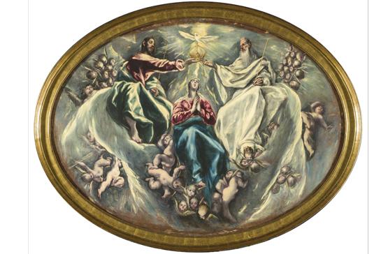 El Greco, La Coronación de la Virgen, 1603-1605, Fundación Hospital Nuestra Señora de la Caridad – Memoria Benéfica de Vega (FUNCAVE)
